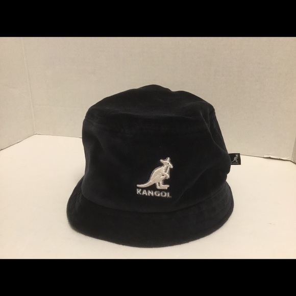 a433b928ec01ae Kangol Accessories   Vtg Velour Lahinch Black Bucket Hat Sz Med ...